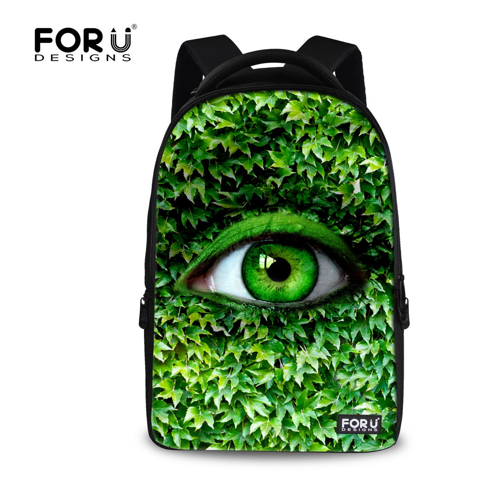 Big Size Computer Backpack Men Travel Backbag Casual 17inch Animal Eyes Printing Laptop Rucksack for Children High Quality
