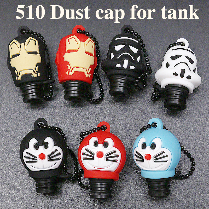 10pcs Universal 510 Pom Drip Tip Silicone Cap Doraemon Iron Man Star Wars Stype Dust Cap Drip Tip For 510 Tfv8 Baby Ego Aio 510 Consumer Electronics Electronic Cigarettes