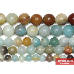 Natural Stone Mixed Amazonite Round Loose Beads 15