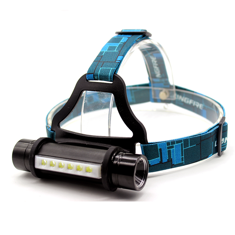 Gift Box 6 LED + CREE Q5 1600Lm 3 modes outdoor camping working led headlamp head lamp light led flashlight + 18650 + charger