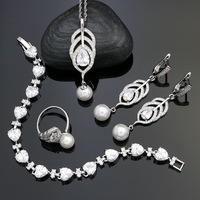 Wedding-925-Sterling-Silver-Bridal-Jewelry-Sets-White-Pearl-Beads-Crystal-For-Women-Earrings-Pendant-Necklace.jpg_200x200