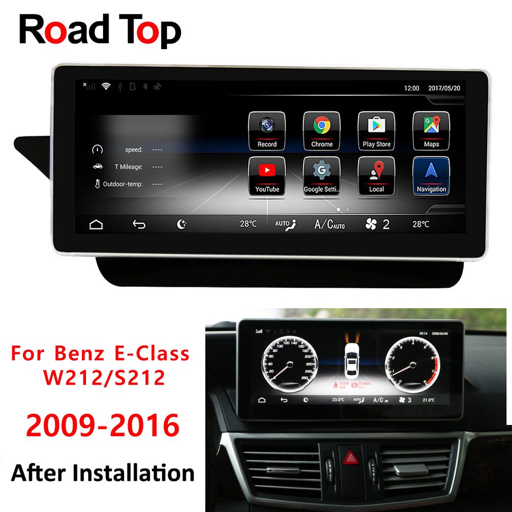 Android Display For Mercedes Benz E Class W212 2009-2016 10.25 Touch Screen Gps Navigation Radio Stereo Dash Multimedia Player High Quality Materials Car Intelligent System