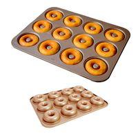 12 Cavity Nonstick Donut Pans Doughnuts Bagel Donut Baking Pan Kitchen Bakery