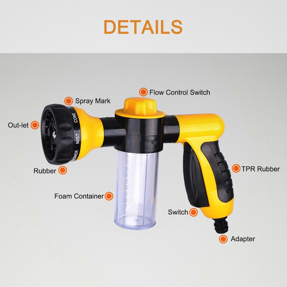 Car Washer High Pressure Snow Foamer Water Gun Profession Car Cleaning Foam Gun Washing Foamaster Gun Water Soap Shampoo Sprayer(China)