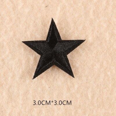 1 шт. смешанные нашивки со звездами для одежды, железная вышитая аппликация, милая нашивка эмблема на ткани, одежда, аксессуары для одежды DIY 61 - Цвет: 61G