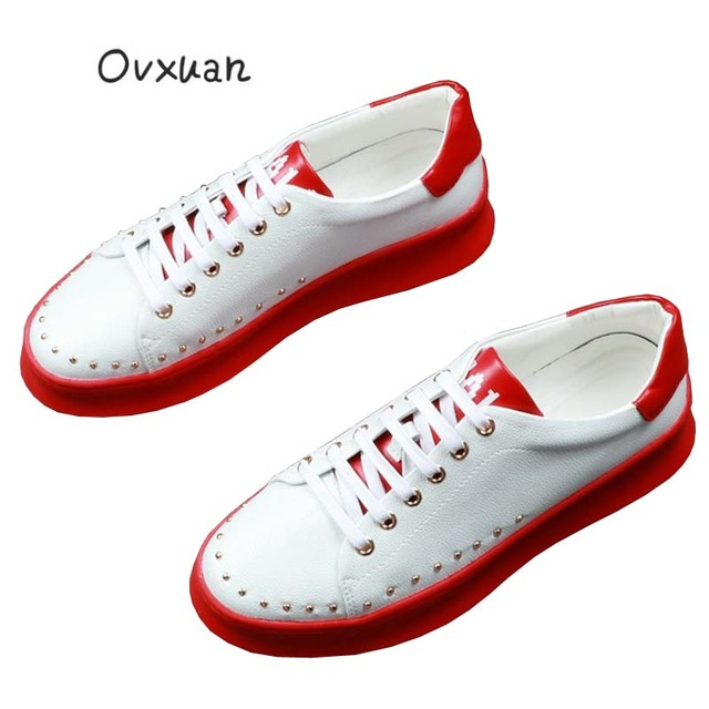 Ovxuan White Soft Bottom Lace Up Casual Men Loafers Dot Bead Rivets Man  Flats Fashion Party Prom and Banquet Men Dress Shoes 826502493115