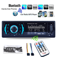 Car Styling 7 Color Backlight Car MP3 Player With Bluetooth AUX In U Disk SD USB