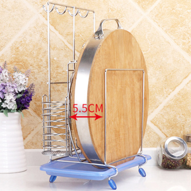 Stainless Steel Kitchen Utensils Rack Chopping Boards Knives Chopsticks Spoon Fork Flatware Storage Drying Drainer Tool