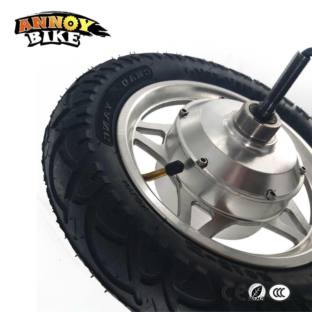 12 ''brouette électrique motoréducteur 12 pouces poids léger haute couple moyeu moteur pneu étroit 24 V 36 V 48 V 250 W 350 W Double arbre