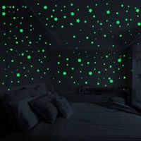 1 set Glow In The Dark Spielzeug Fluoreszierende Sterne Runde Aufkleber für Nacht Leuchtende Spielzeug Geschenk für Kinder Baby Schlafzimmer dekoration