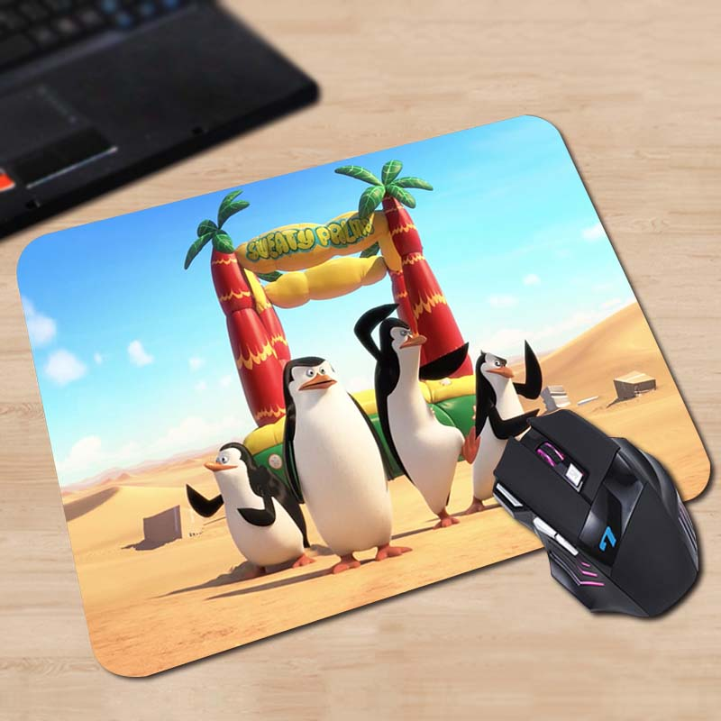 Optical Computer Gaming Speed Mouse Mat Top Fashion Cases The Penguins of Madagascar Mouse Pad Size 180*220*2mm or 250*290*2mm