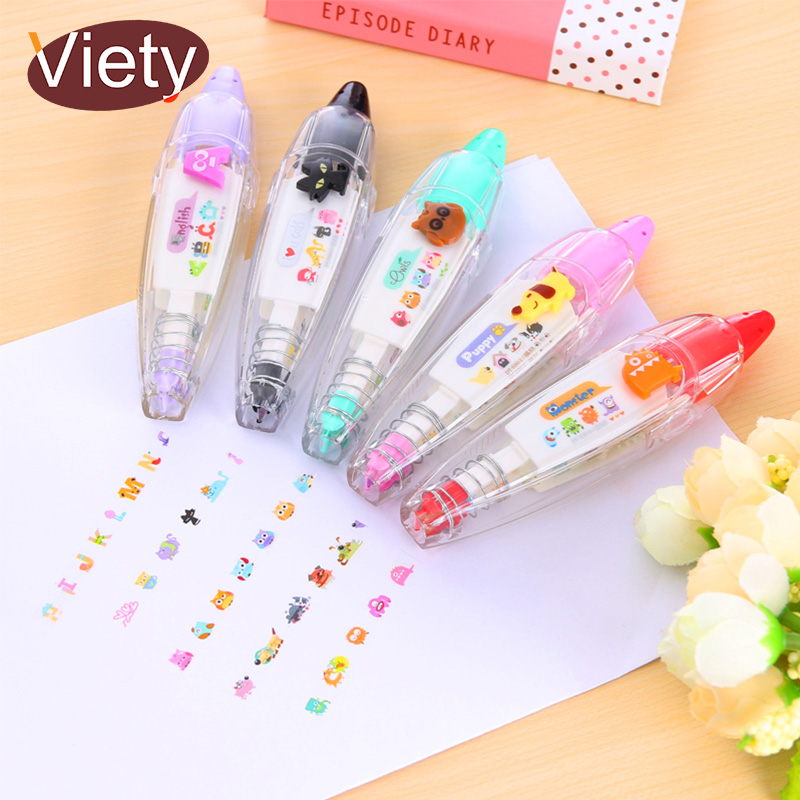 Cartoon Owl Animals Press Type Maksing Tape DIY Decoration For Scarpbooking Planner Sticker Stationery School Supplies
