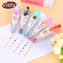 4 pcs/lot cute cartoon correction tape kawaii stationery for student school supplies DIY scrapbooking Stickers
