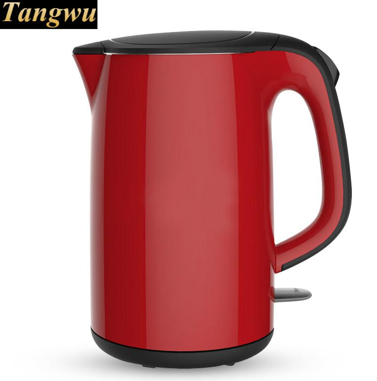 цены  Electric kettle boiling pot boiler double layer of hot 1.7 litre