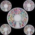 1 PCS Mistura Colorida Do Coração/Estrelas Lantejoulas Glitter Roda Nail Art Design Dicas Decoração Ferramenta Rodas Prego jogo da etiqueta