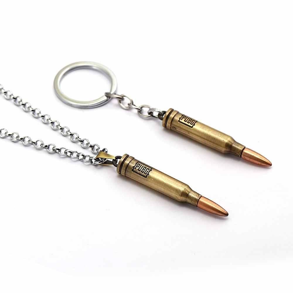 ร้อนเกม PUBG กระสุนปืนพวงกุญแจ Letter 300 Win Mognum จี้โลหะ Keyring กระเป๋ารถคีย์โซ่สำหรับผู้เล่นของขวัญผู้ชาย