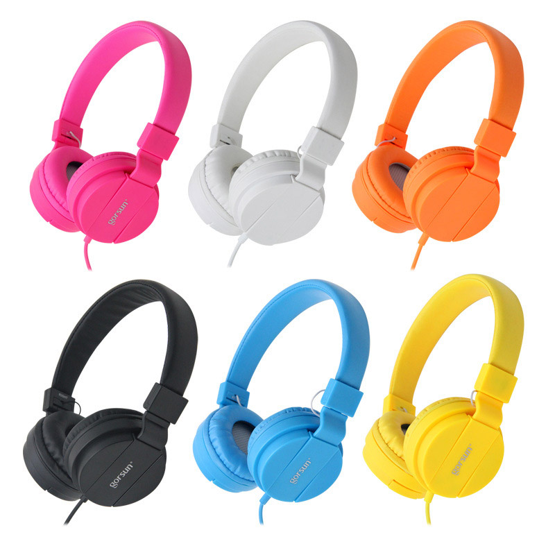 Cute Headphones Earphones Gaming Hi-Fi Speaker 3.5mm Port Stereo Kids Headset For Phone MP3 Computer Music Xiaomi, Girls Child