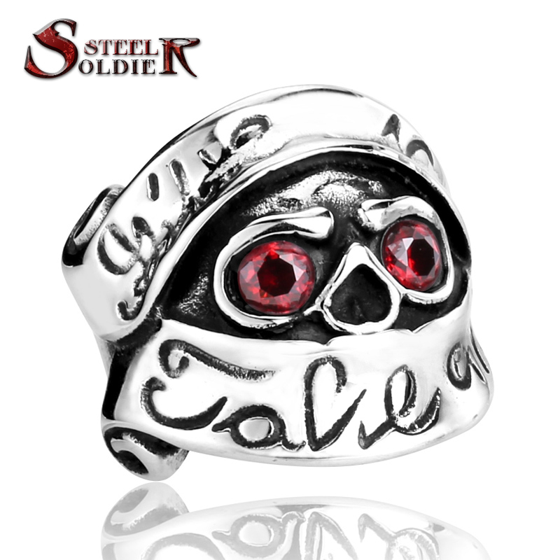 steel soldier New Design Stainless Steel Stars War Soldier Ring For Men With Red CZ Stone Unique Movie Jewellry Ring ...