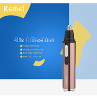 Kemei T142 4 In 1 Electric Nose Trimmer Rechargeable Women Face Care Beard Shaver For Nose