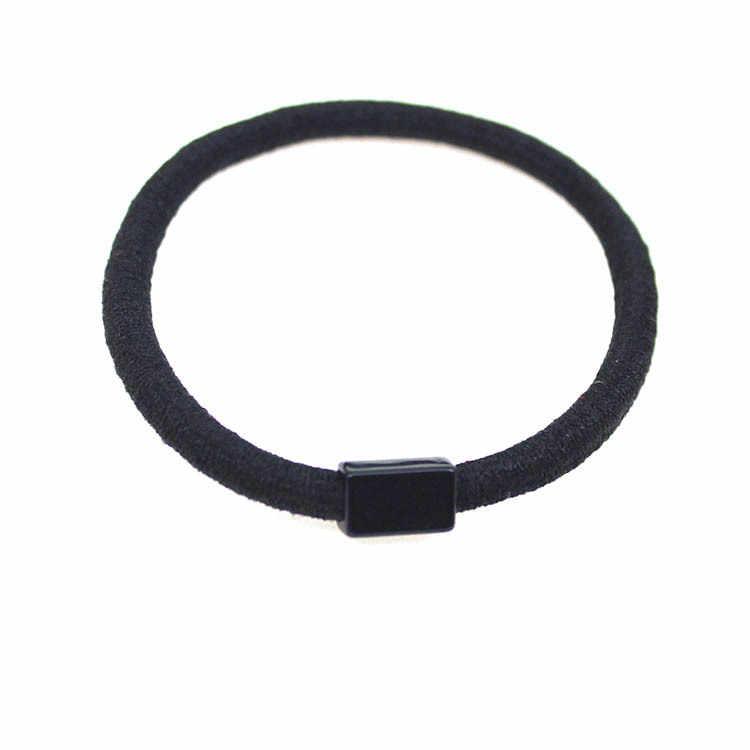 1 шт. 52 мм Женская мода черная эластичная резинка для волос держатели аксессуары для волос для девочек Женская резиновая резиночка резинка