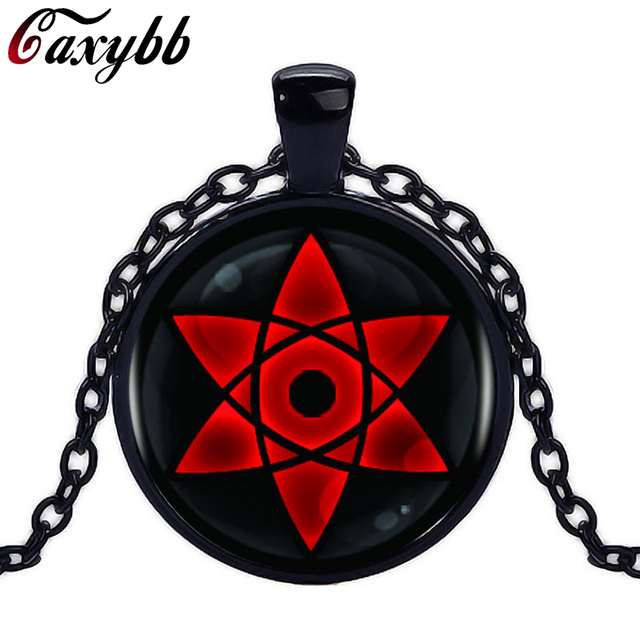 Naruto Eyes Glass Pendant Necklace