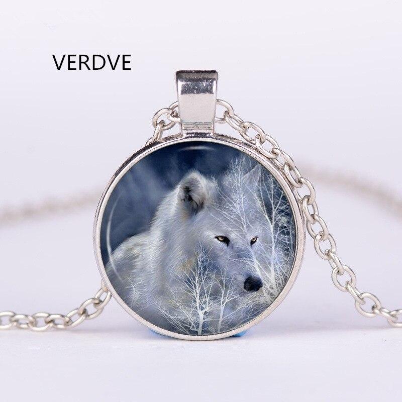 VERDVE 2018 3/цвет ювелирные изделия мода говорить Кристалл Цепочки И Ожерелья время волк тотемная Подвеска Новый для мужчин