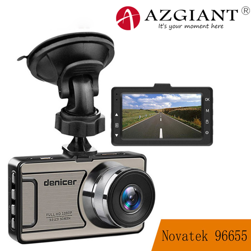 AZGIANT 3inch TFT LCD Full HD 1080P Video Car Driving Recorder DVR Night Vision Lens Vehicle Dash Cam Camera Parking Monitor