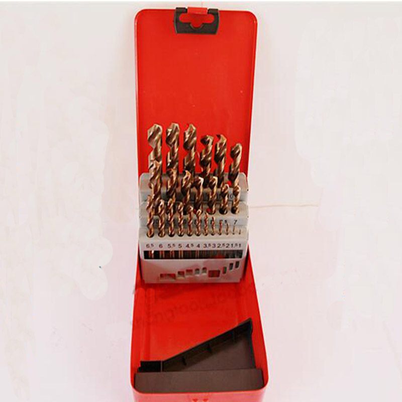 25pcs/set HSS 1.0-13mm High Speed Steel M35 Cobalt Twist Drill Bit Wood Metal Drilling Top Quality sheffield high quality drill bit set high speed steel with co twist drill hss m35 cobalt steel alloys material 1mm 13mm