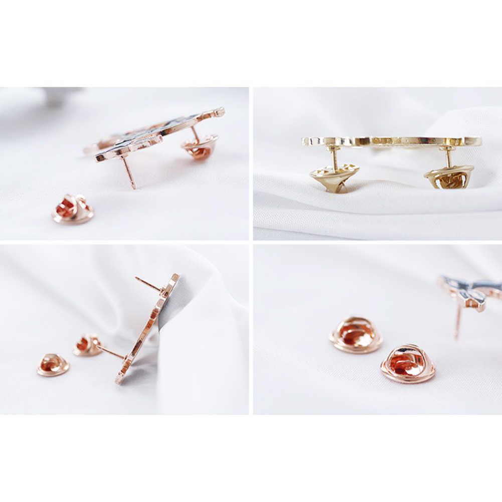 Lucu Chic Little Fawn Enamel Bros Pin Pakaian Wanita Kerah Gaun Tas Perhiasan Hadiah