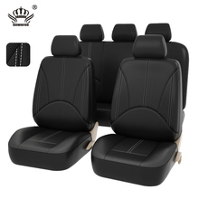 NEW Luxury Universal Fit Interior Decor PU Leather Car Seat cover,Full set Front Rear black,for car opel astra h j ford focus 2