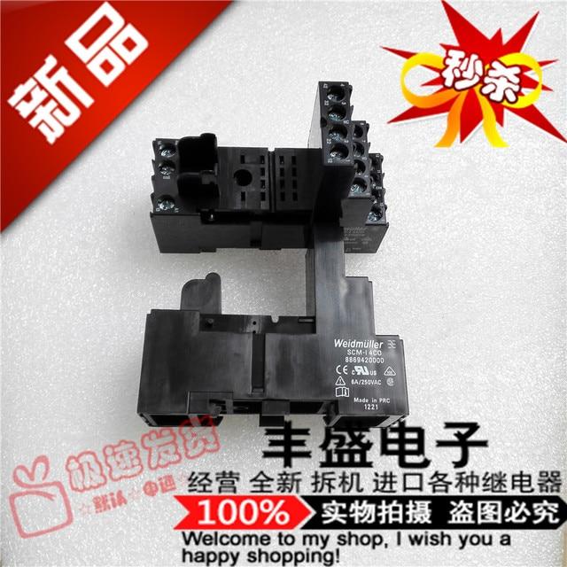 Original new 100% China import 8869420000 PRC import 6A 250VAC SCM-I 4CO relay base