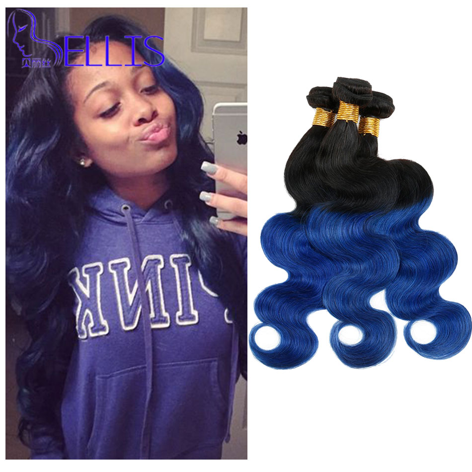 Peruvian Virgin Hair Body Wave 4pcs Lots Ombre Virgin Hair Bundles