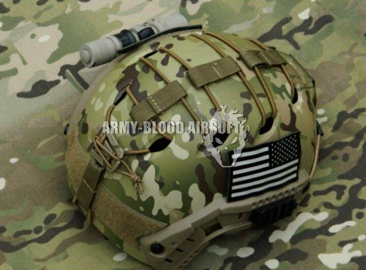 FAST-helm aangepast met rubberen - Sportkleding en accessoires