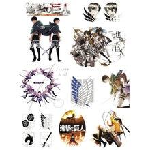 1Set Classic Anime Attack på Titan Vattentät Tillfälligt Tatto Klistermärke för någon del av Body Brand Decal Stickers