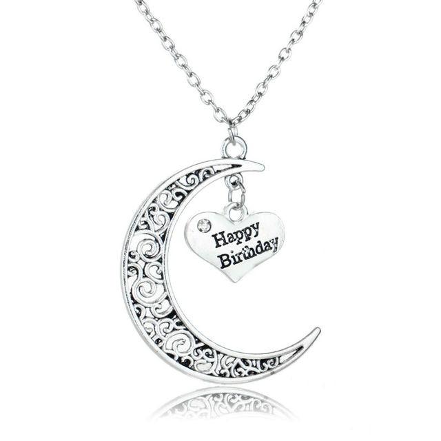 Feliz cumpleaos de la luna hueca crystal heart pendant collar de feliz cumpleaos de la luna hueca crystal heart pendant collar de los mejores regalos para amigo aloadofball Images