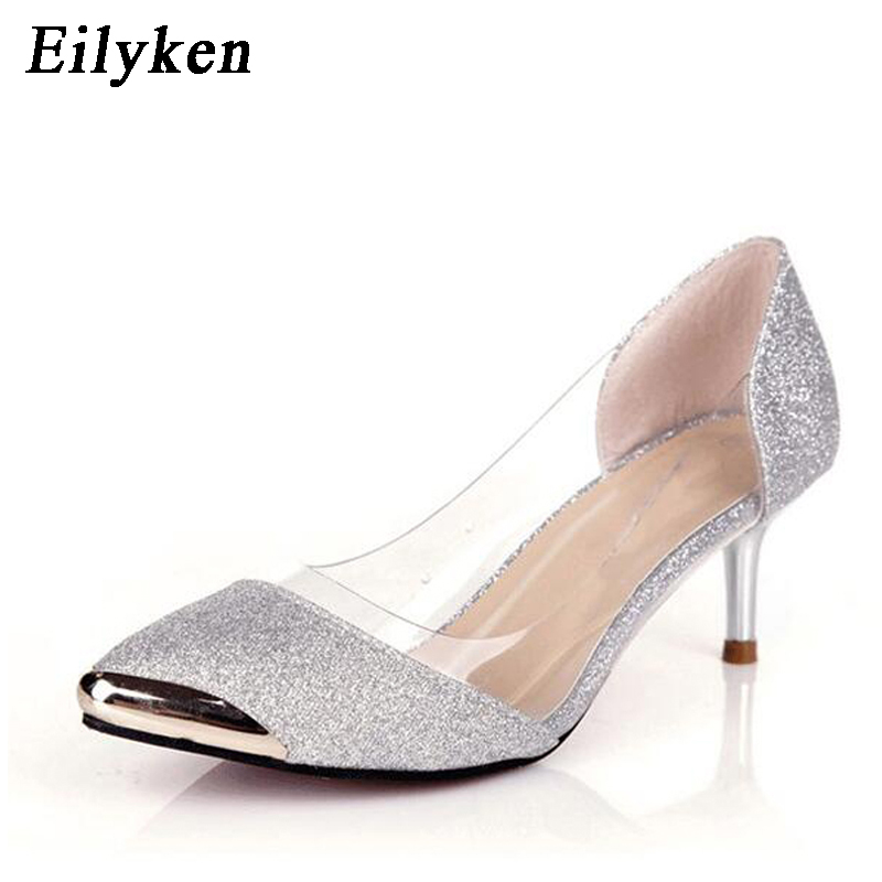 d2b706f07f Eilyken 2018 PVC Jelly Slippers Open Toe High Heels Women Transparent  Perspex Slippers Shoes Heel Clear Sandals ...