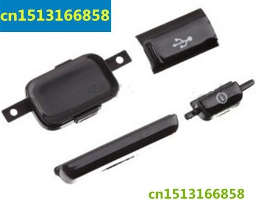 Черный/белый цвет для samsung i9000 Galaxy S Основная клавиатура Home Button объем сторона USB крышка Мощность и пуговицы