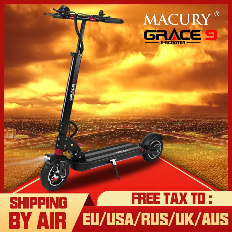 Macury GRACE9 electric <font><b>scooter</b></font> GRACE 9 hoverboard 2 wheel 8 inch 48V600W adult Zero 9 8.5 lightweight mini foldable ZERO9 T9 image