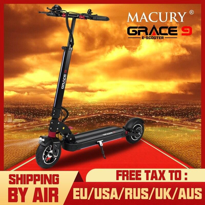 Macury GRACE9 scooter Eléctrico GRACE 9 hoverboard 2 de 8 pulgadas 48V600W adulto cero 9 8,5 ligero plegable ZERO9 t9