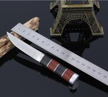 Caliente 52HRC Táctico del cuchillo de caza cuchillos herramientas al aire libre que acampa plegable de la supervivencia del mejor regalo Envío gratis N876