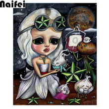 "5D DIY Full Square/Round Drill Diamond Painting""big eye girl art gothic fantasy tarot cute onion""Mosaic Diamond Embroidery Home(China)"