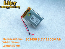 best battery brand  new GPS 503450 1200mah lithium-ion polymer battery 3.7V MP3/4 navigation intelligent water mete