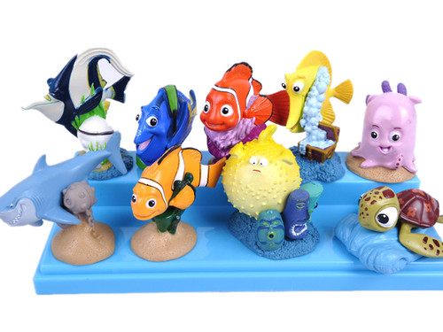 Dropshipping FINDING NEMO 9 PIECE FIGURE / BIRTHDAY CAKE TOPPER SET-in Action & Toy Figures From