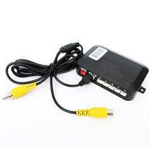 Автомобилей Видео Парковочный Сенсор Обратный Резервный Радиолокатор Помощь Авто Парковка Монитор Цифровой Дисплей и повышающий Сигнализации Dual Core ПРОЦЕССОР