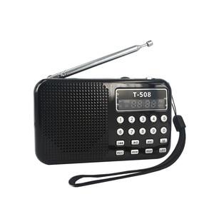 Image 3 - Kebidueimini 듀얼 밴드 충전식 디지털 LED 디스플레이 패널 스테레오 FM 라디오 스피커 USB TF mirco SD 카드 MP3 음악 플레이어