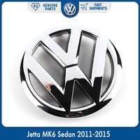 Auto 130mm VW emblema cromado OEM emblema de rejilla delantera pegatina para Volkswagen Jetta MK6 sedán 2011-2015 5C6 853 601 5C6853601ULM