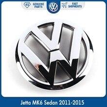Автомобильная эмблема 130 мм VW, Хромированная передняя решетка OEM, наклейка для Volkswagen Jetta MK6 Sedan 2011-2015 5C6 853 601 5C6853601ULM