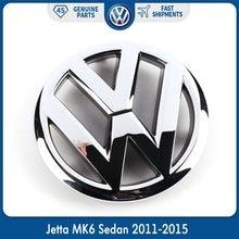 Emblema adesivo para frente da grade do carro, adesivo emblema de vw, oem, 130mm para volkswagen jetta mk6 sedan 2010-2019 5c6 853 601