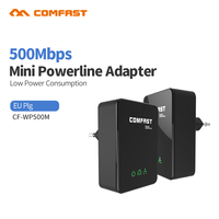 Cheap 2pcs 500Mbps PowerLine Ethernet Adapter PLC Adapter Powerline Network IPTV Homeplug AV For Home PLC