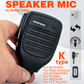 Mini PTT Speaker MIC Para Kenwood Rádio QUANSHENG PUXING LINTON HYT TYT BAOFENG UV5R 888 S Speaker Mic para Walkie Talkie